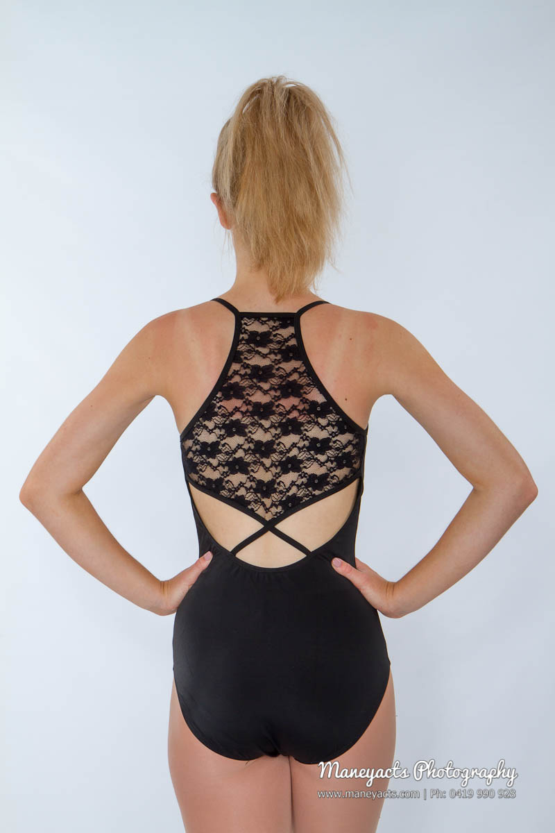 38714e9aea Lace Back Halter Leotard